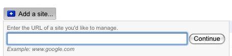 Adding Website in Google Webmaster Tools