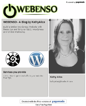 Webenso Facebook Welcome Page
