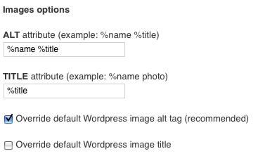 SEO Friendly Images Plugin Options