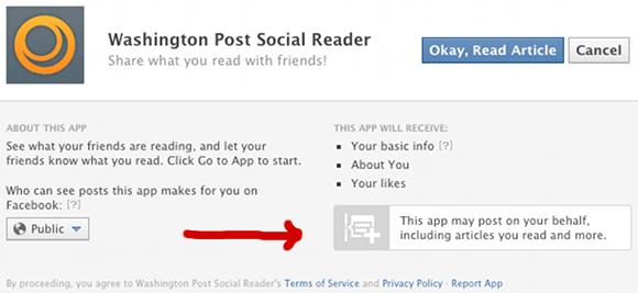 Facebook App Social Reader