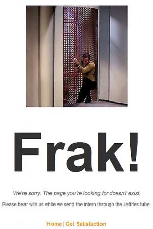 Frak! 404 Error Page