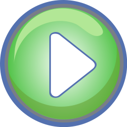 green video play  button