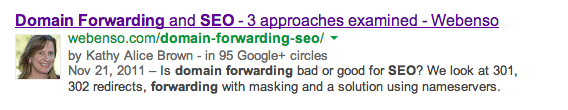 Snippet with Google Authorship
