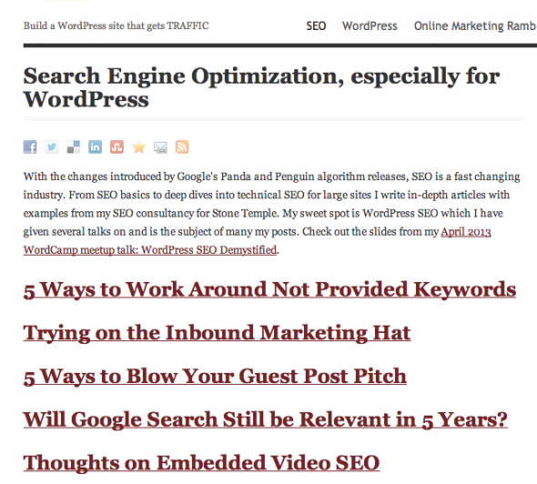 My Optimized SEO Category Page