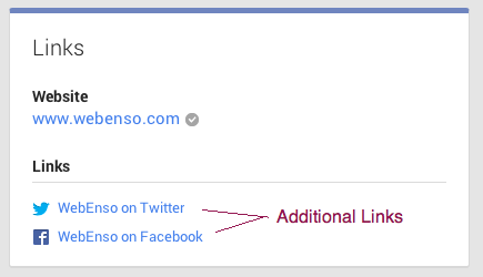 Adding additional links to Google+ profile page