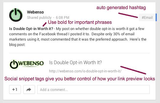 Google+ post tips