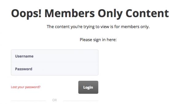WishList Member Login Page