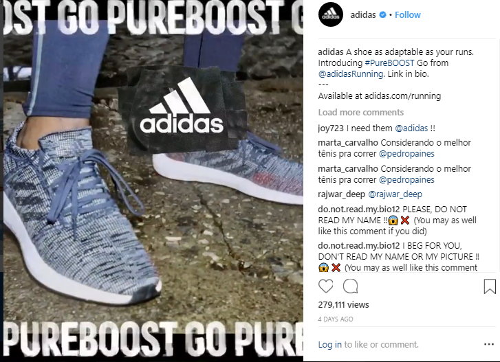 Adidas Instagram Post